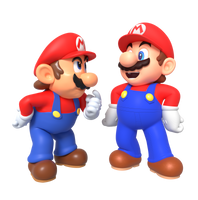 Modern Mario Meets N64 Mario Render by Nintega-Dario