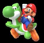 CLASSIC Mario and Yoshi (Render)