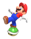 Mario Trying to Balance on a Shell Render
