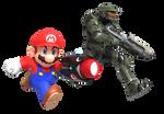 Mario and Master Chief Render