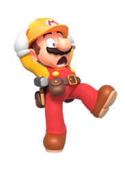 Builder Mario Terrified Render