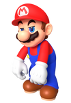 Mario Disappointed Render