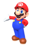 Mario Holding His Arm Out Render