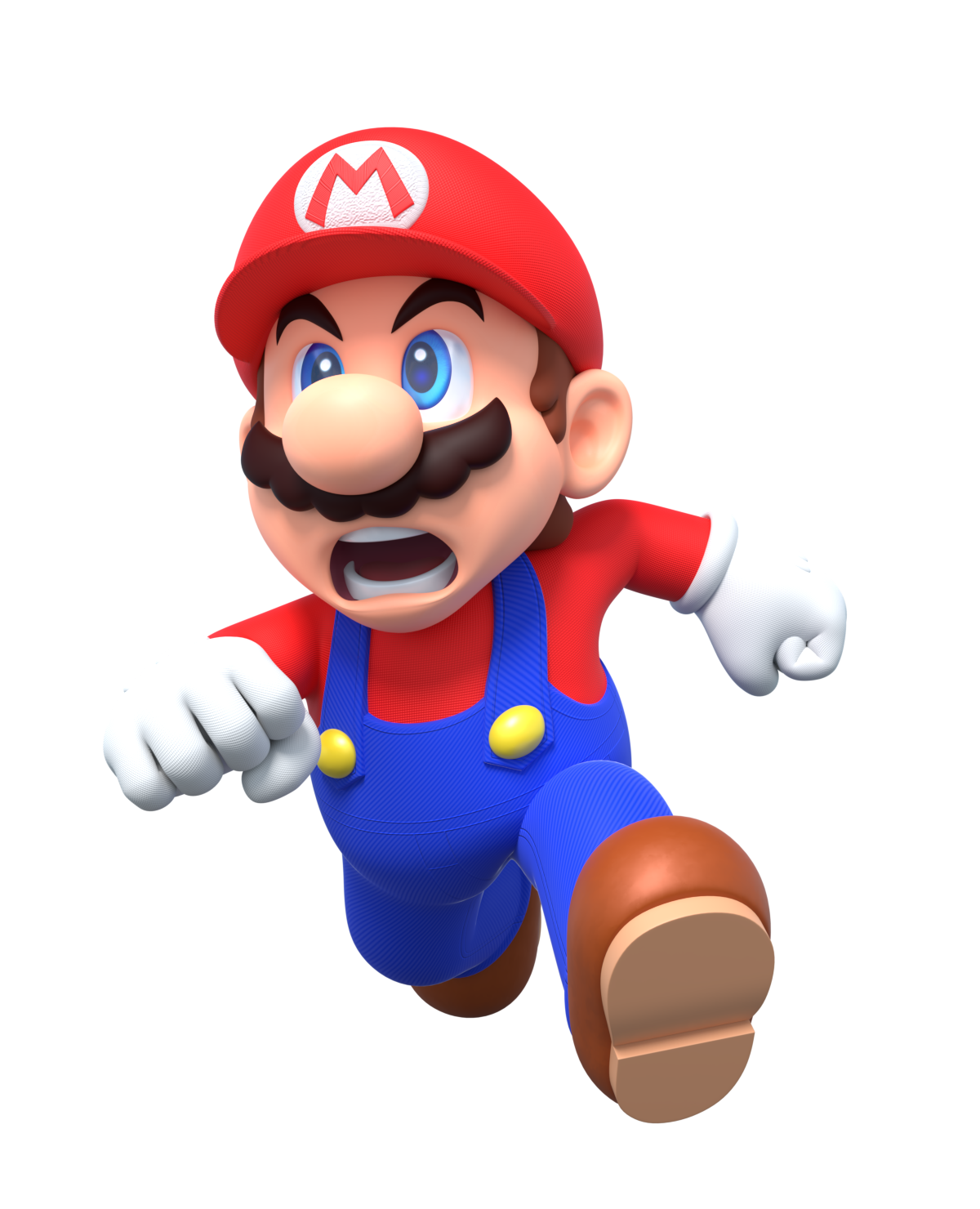 Mario Angry Run Render
