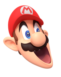 Mario Stretched Head SM64 Title Screen Render