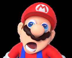 Glitch Faced Mario Render