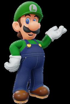 Luigi Mario Party E Pose Render