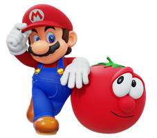 Mario and Bob the Tomato Render (Remastered)