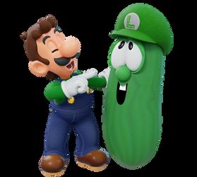 Luigi and Larry the Cucumber Render