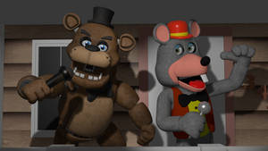 Chuck E. Cheese + Freddy Render (I Stand by Scott)