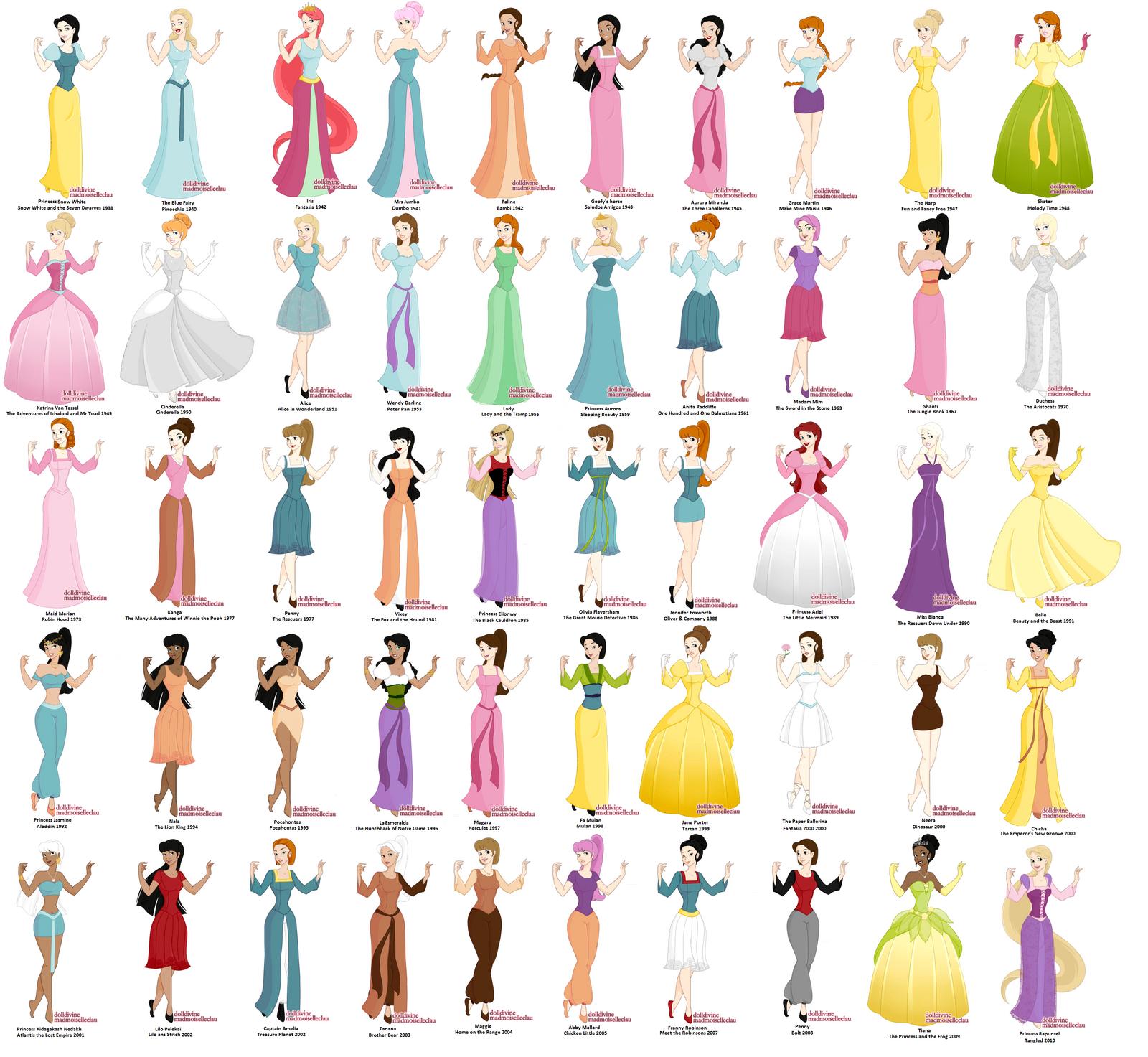 Princess maker- Disney's 50 by Failinginart on DeviantArt