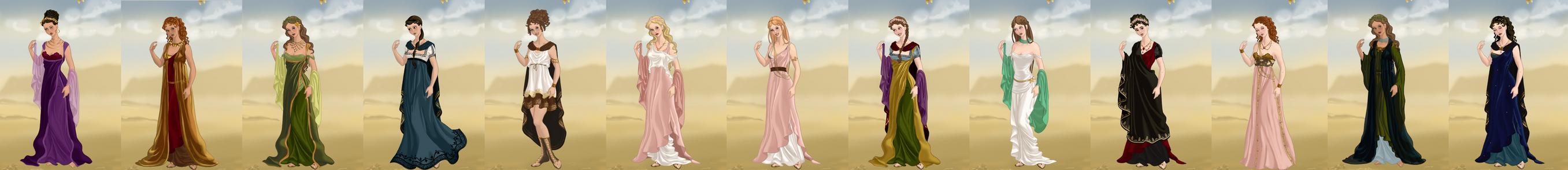 Greek goddesses by Failinginart