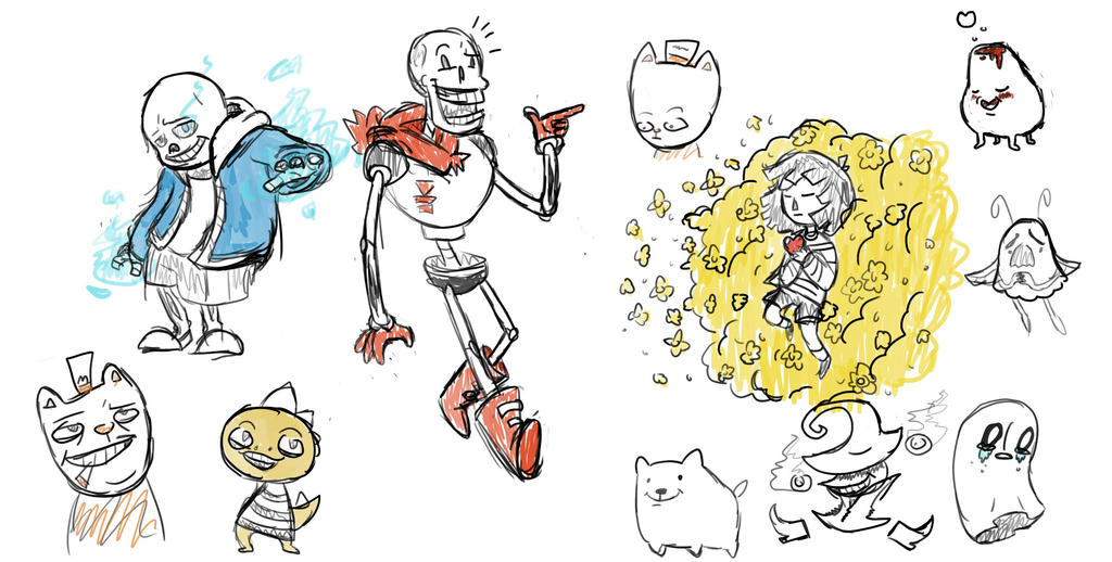 Undertale Doodles By CrazyWizBiz On DeviantArt