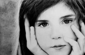 Little girl drawing- Final result ! by mazdisna