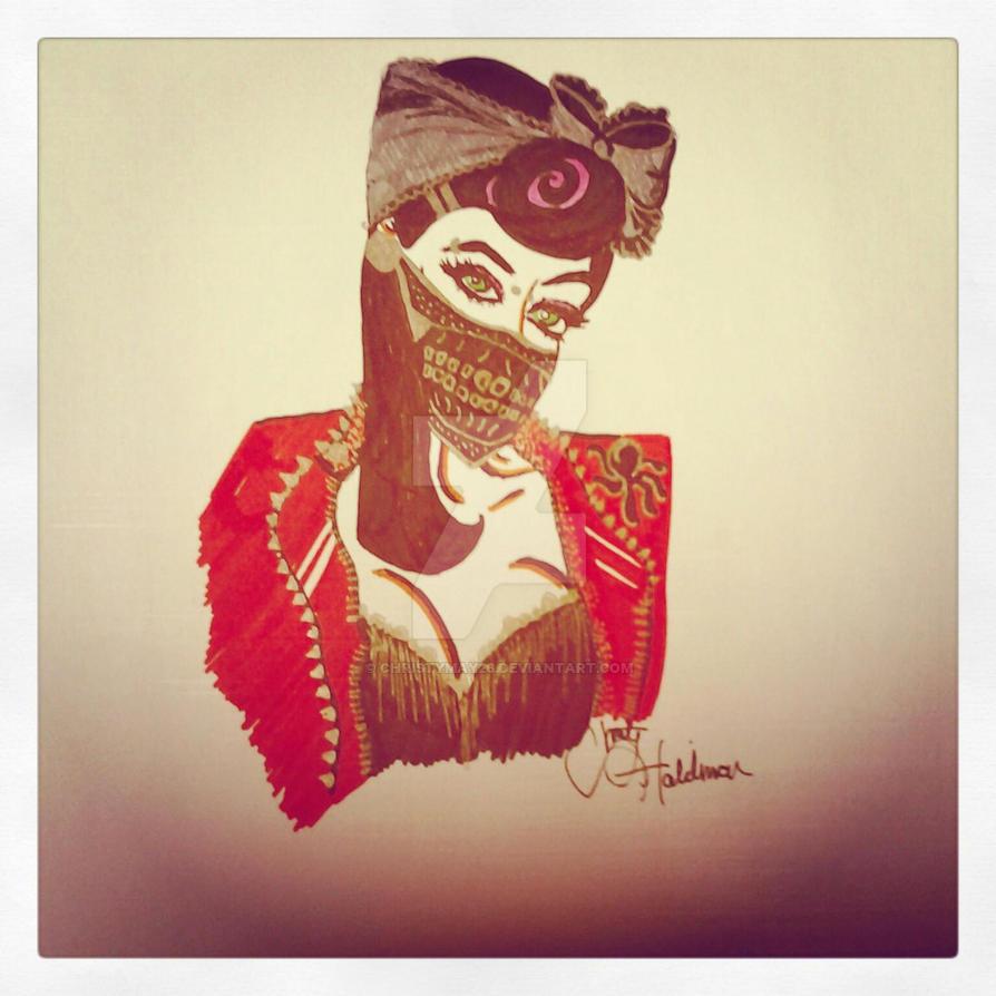 punkrock skull mask by christymay26