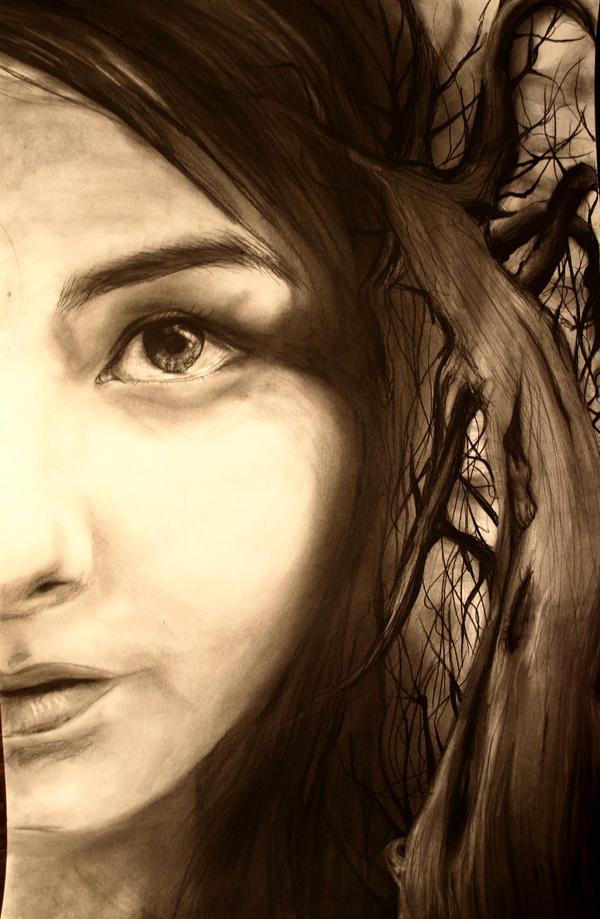 half of face by sadi3-g