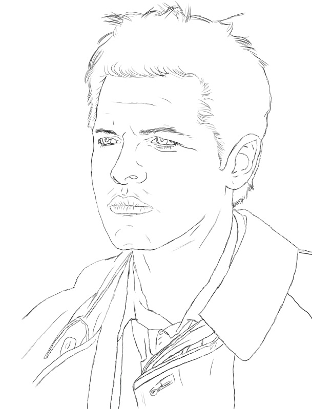 Dean winchester free coloring pages for Supernatural coloring pages