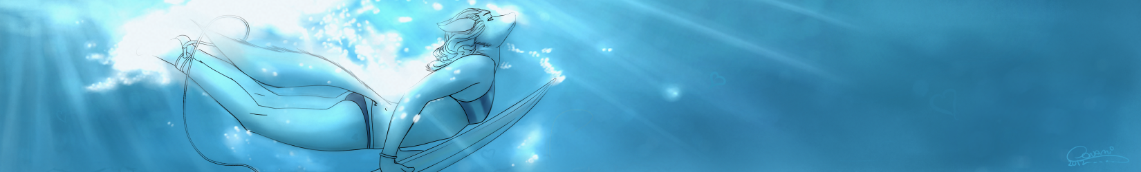 Water Girl Banner by oonami
