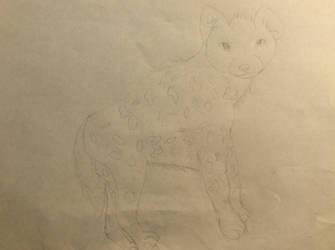 A hyena by DarceyMew