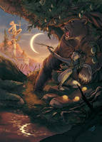 Atalanta and the Artemis's Bear by DiaXYZ