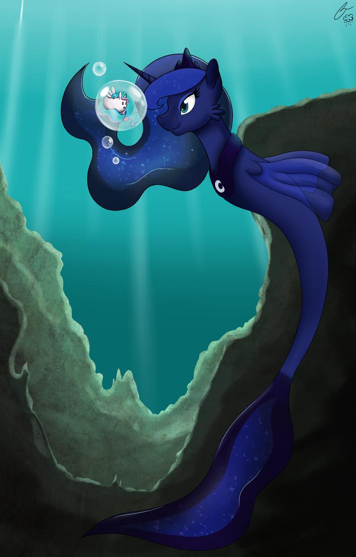 Sea Pony Luna by iRaincloud