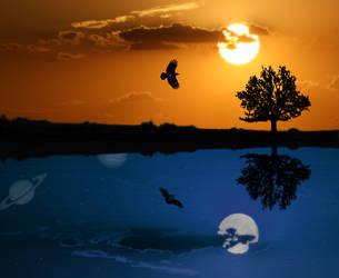 Day and Night by MickelHiwatari
