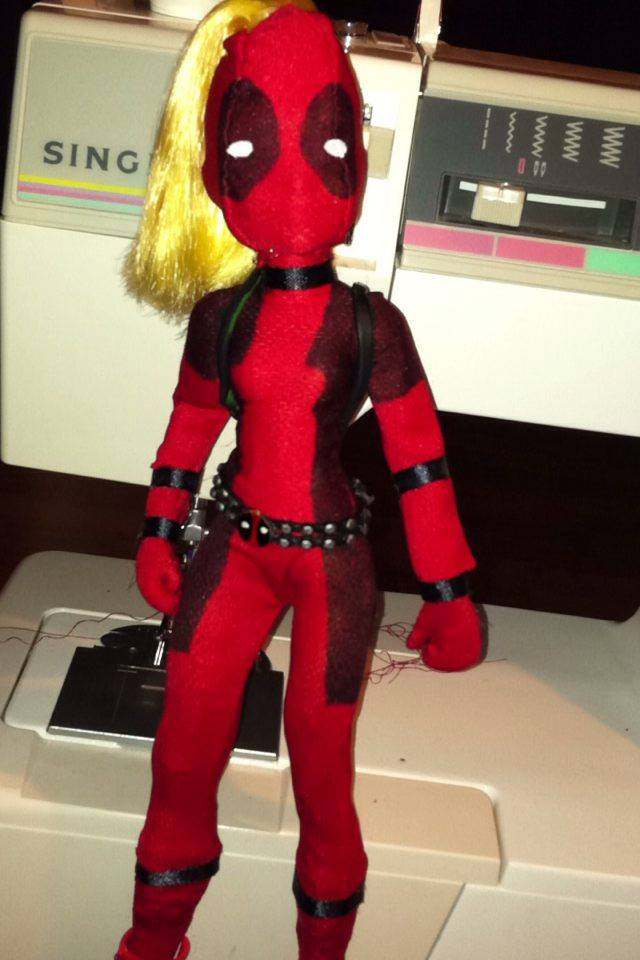 Lady Deadpool doll 1 by Makeup-love95