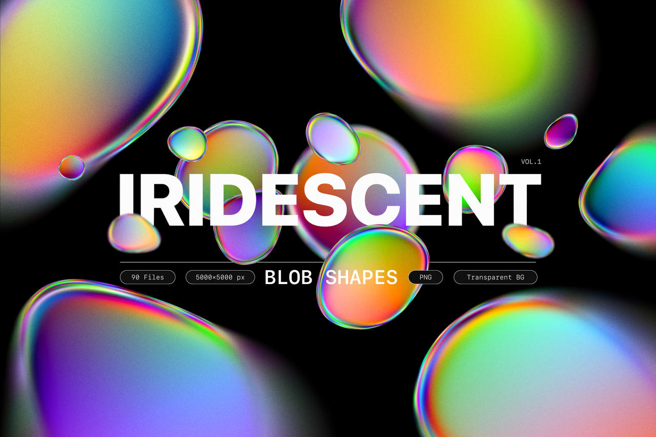 Samolevsky.com - Iridescent blob shapes collection