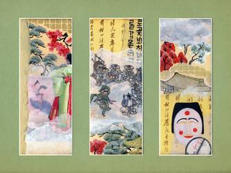 Korea Triptych by Natalinne