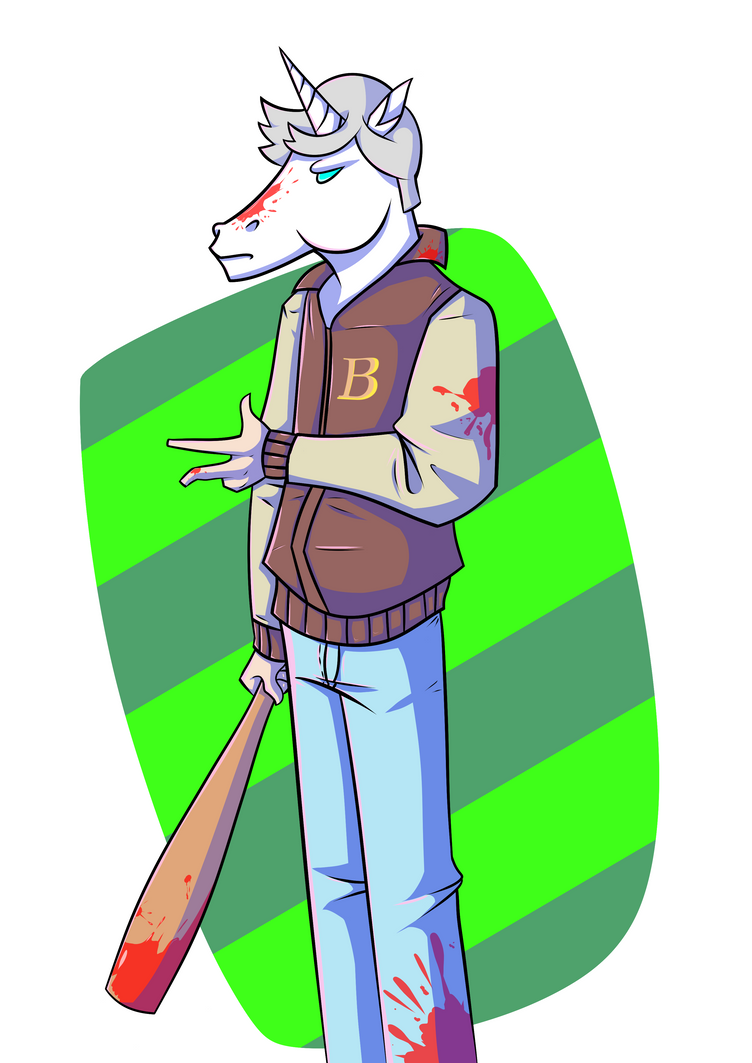 Hotline Miami Unicorn by mateoatya