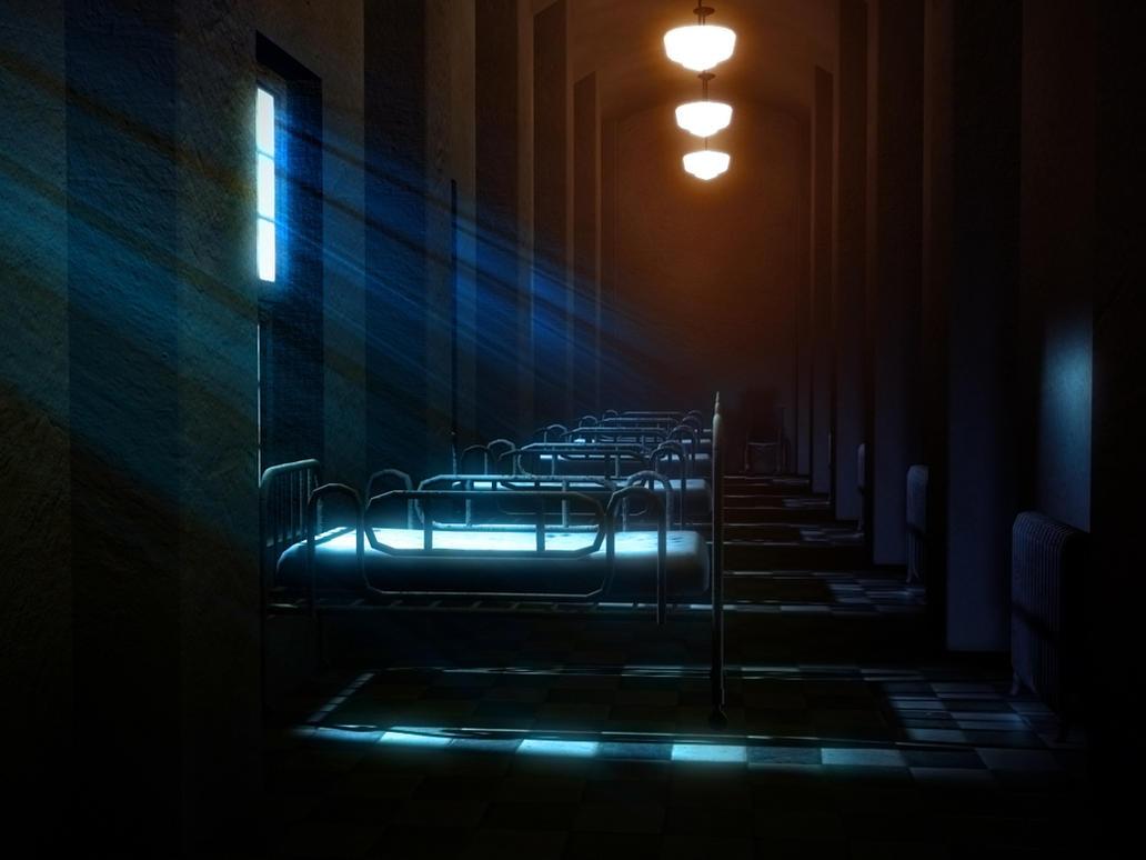hospital at night by deemuun on DeviantArt