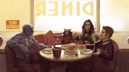 Guardians of the Galaxy fanart by deemuun