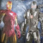 Iron Man And War Machine by pjc71