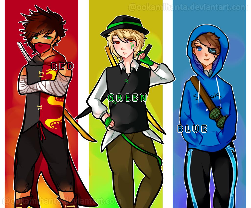 Color Gang/War Ninjago AU by x3thanXx