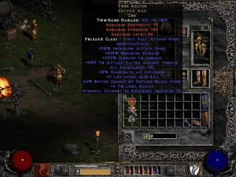 nice cryptic axe