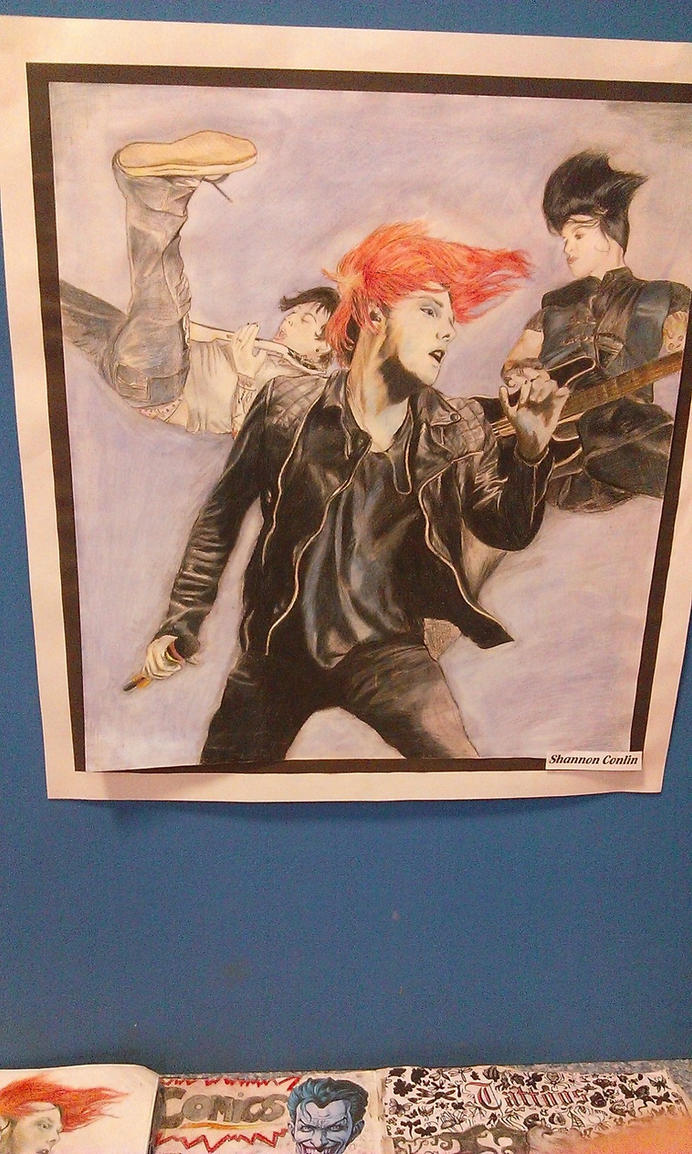GCSE final piece - Gerard, Frank and Lindsey by GHOULISHGLOW