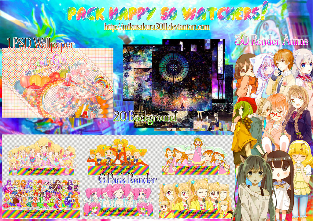 Pack share #2 : Happy 50+ watchers! by Mikusakura3011