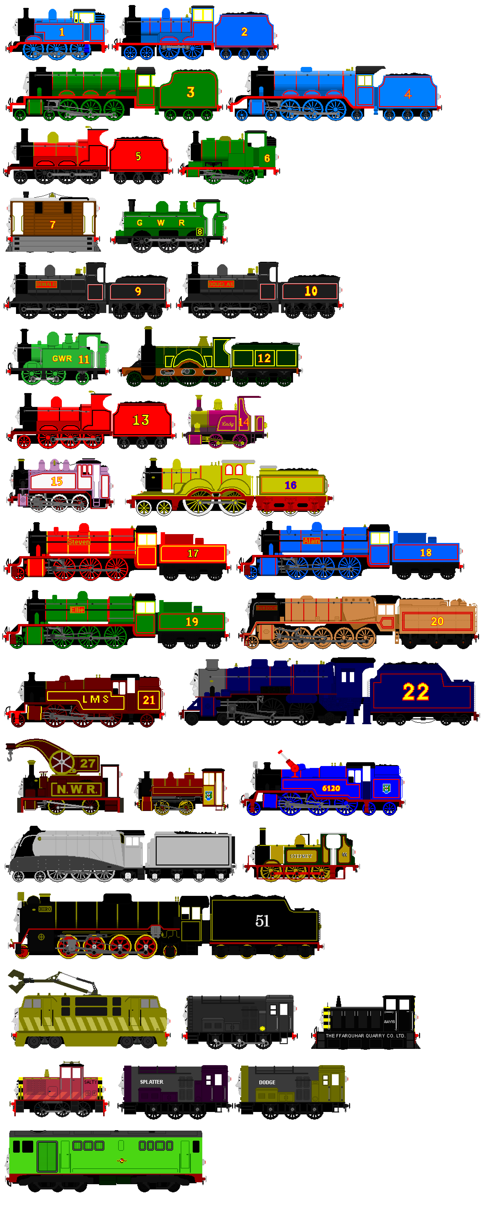 Thomas and Friends Animated Characters 1 by JamesFan1991 on