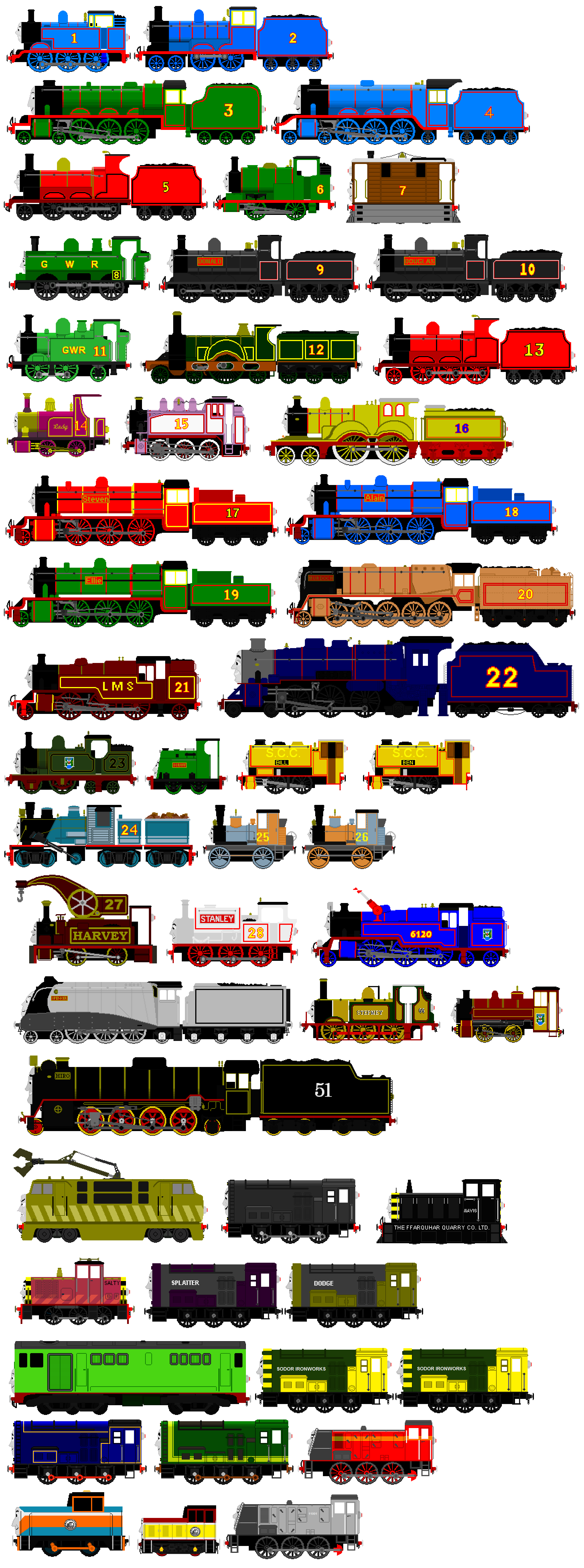Thomas And Friends Animated Characters 4 By JamesFan1991
