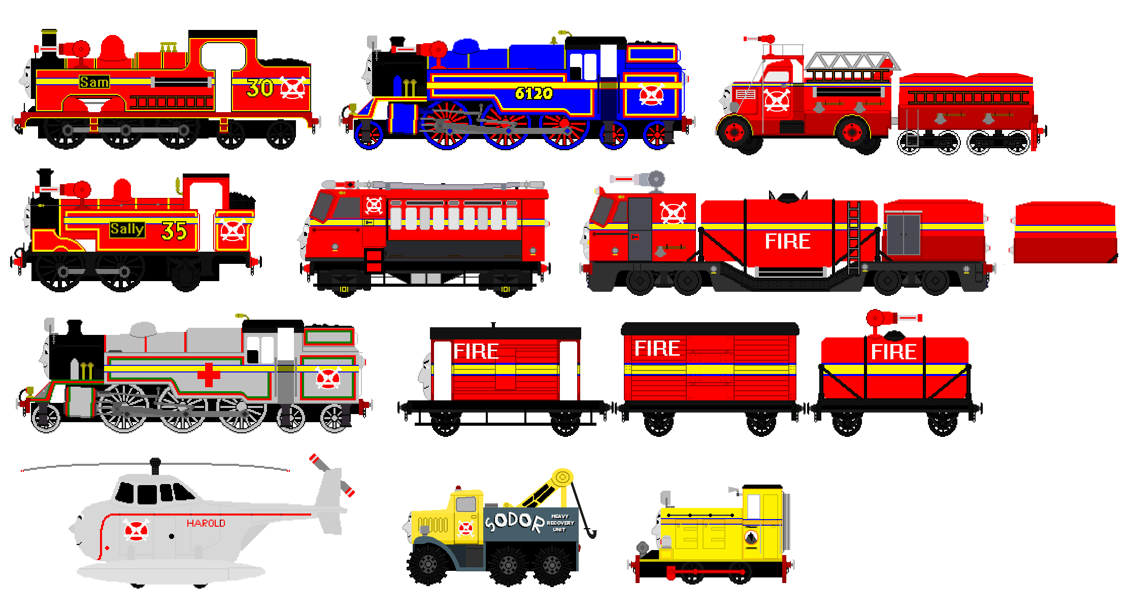 New Sodor Search And Rescue Team By Jamesfan1991 On Deviantart
