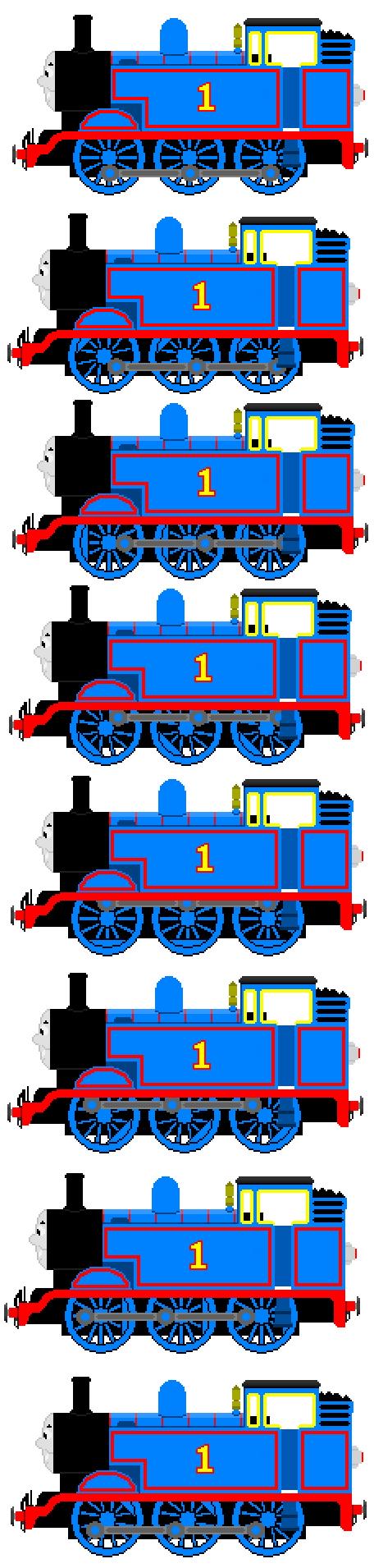 Thomas the train full size sheets -  Thomas The Tank Engine Full Sprite Sheet By Jamesfan1991