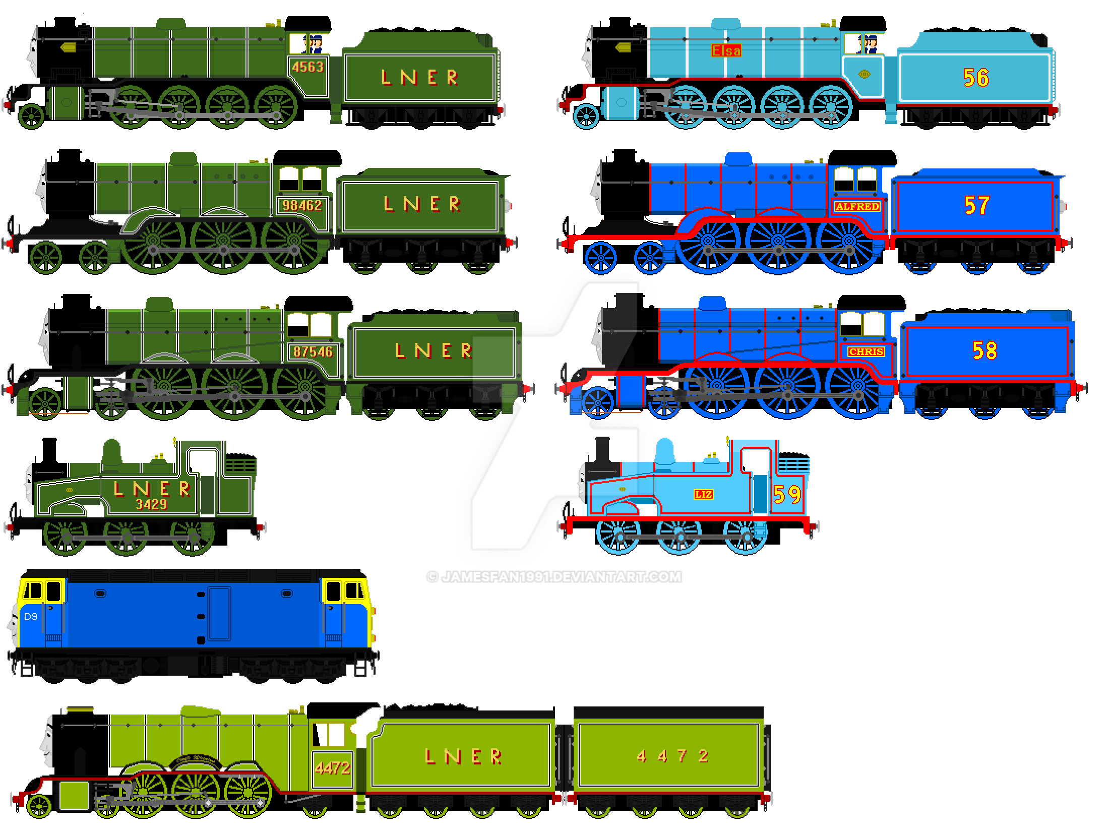 Back To The Railway Series 2 Engines Updated By Jamesfan1991 On