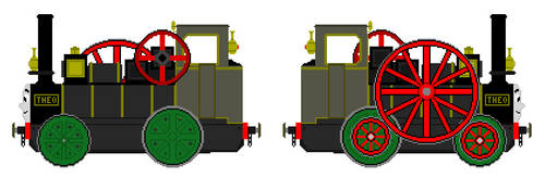 Theo the Railway Traction Engine by JamesFan1991