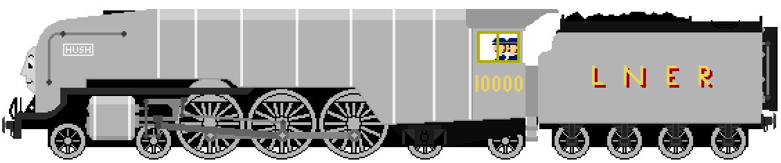 Hush the LNER W1 Class Engine by JamesFan1991