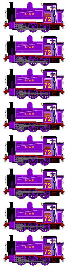 Kairi the New Purple Tank Engine (Sprite Sheet)