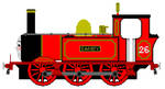 Sandy the Red Tank Engine by JamesFan1991