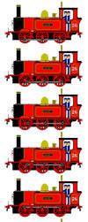 Sandy the Red Tank Engine (Sprite Sheet) by JamesFan1991