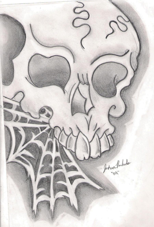 new school skull sketch by Joshua-Rowlands on DeviantArt