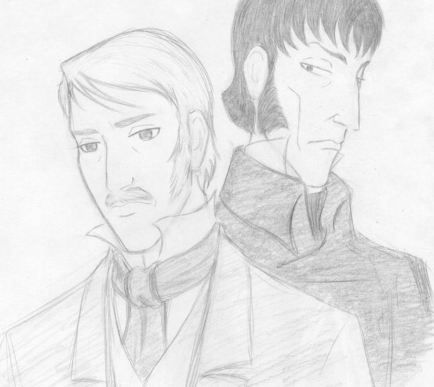 Valjean and Javert by HelgaRHuffle
