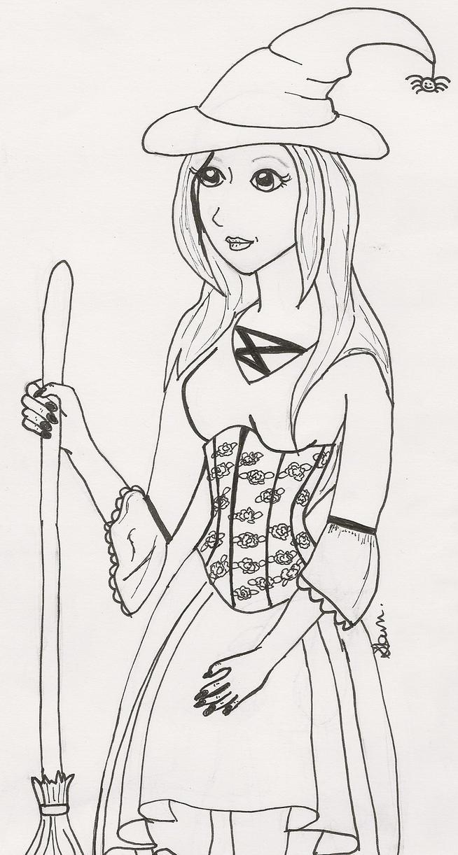 halloween costume line drawing by crimsonangel666 - Halloween Line Drawings